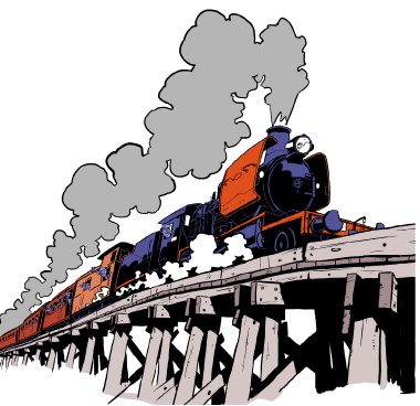 380x368 Locomotive Clipart Victorian Train