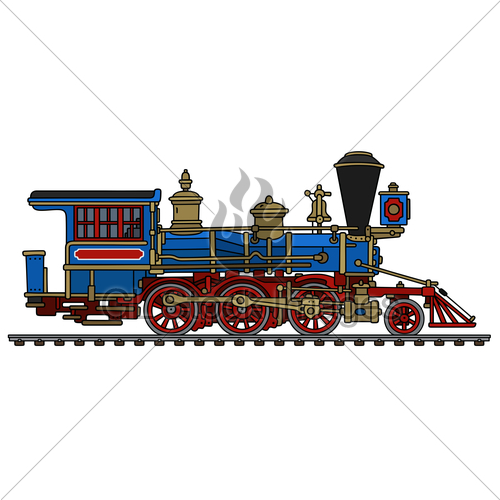500x500 Vintage American Steam Locomotive Gl Stock Images