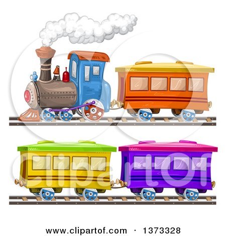 450x470 Clipart Of A Steam Engine Train And Cars