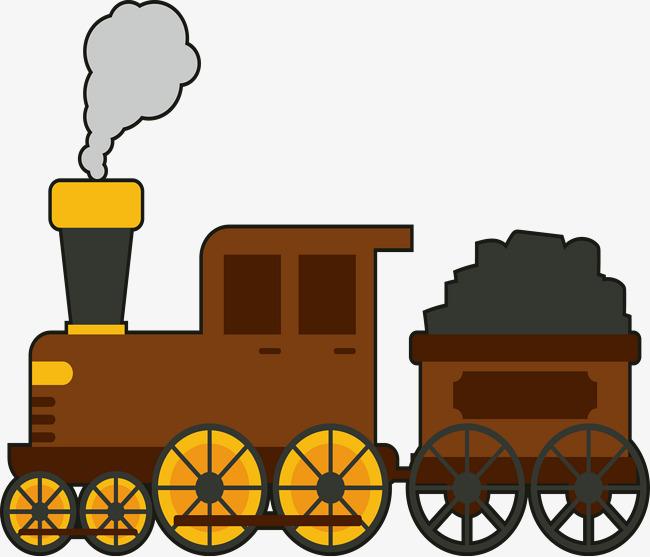 650x557 Coal Train On Century Style Vector, Vector, Vector Train, Coal