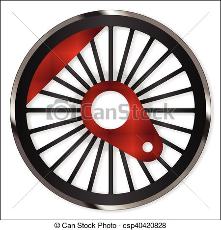 450x470 Steam Train Wheel. A Single Steam Train Driving Wheel Vector