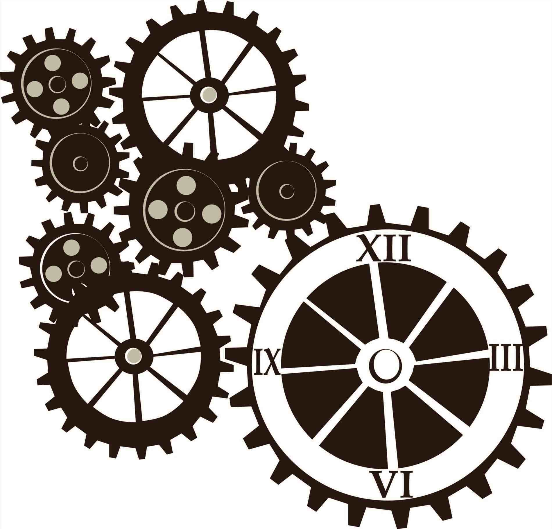 1900x1821 Steampunk Clock Clipart The Hit Canvas