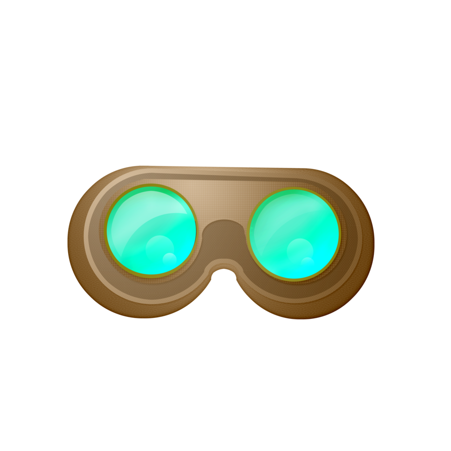 894x894 Collection Of Steampunk Goggles Clipart High Quality, Free