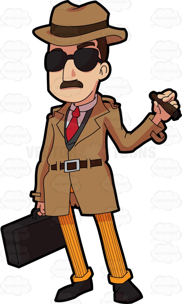 614x1024 An Incognito Looking Bill Collector Cartoon Clipart Vector Toons