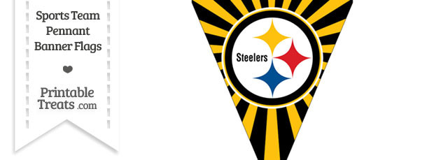 610x229 Pittsburgh Steelers Pennant Banner Flag Printable