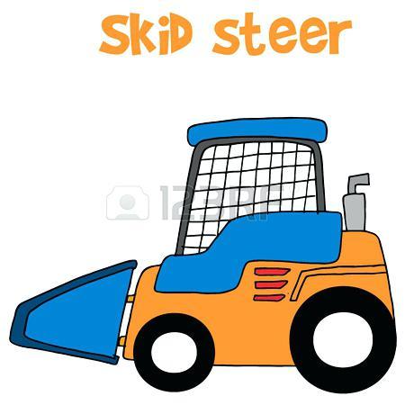 450x450 Steer Clip Art Skid Steer Cartoon Vector Art Collection Stock