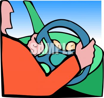 350x331 Person Driving A Car Holding The Steering Wheel