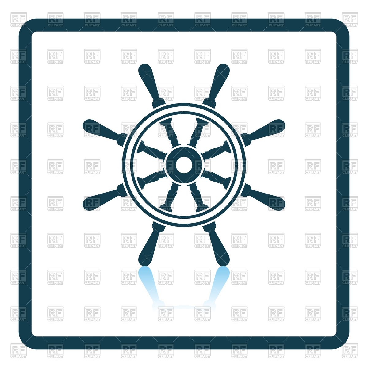 1200x1200 Shadow Reflection Design Icon Of Steering Wheel Royalty Free