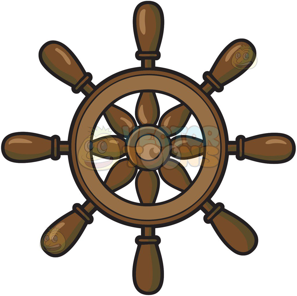 1024x1021 Steering Wheel Of A Ship Cartoon Clipart Vector Toons