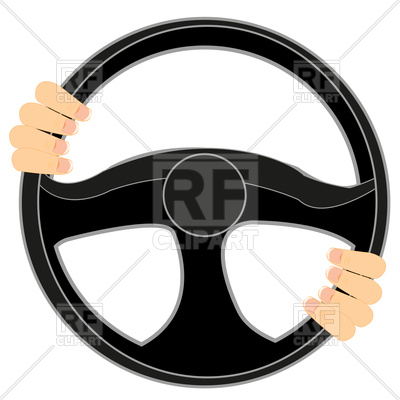 400x400 Steering Wheel Of The Car And Hands Of The Driver On Him Free
