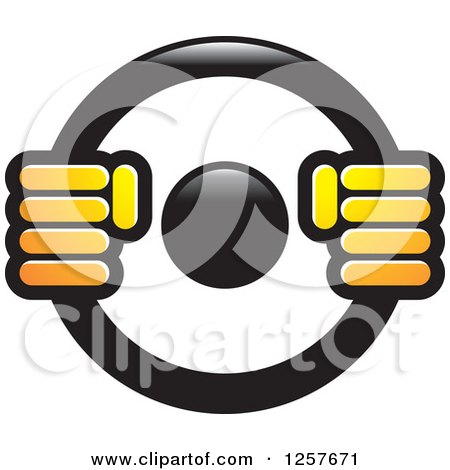 450x470 Clipart Of Hands On A Steering Wheel