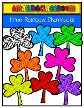 271x350 This Cute Clip Art Set Includes 8 Colorful Shamrock Sketched