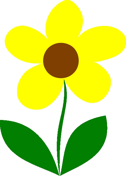 426x597 Flower Stem Clipart Yellow Flower Stem Clip Art Clipart Panda Free