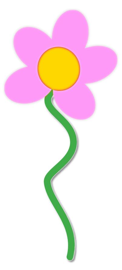 403x885 Flower Pink W Stem Clip Art Clipart Panda