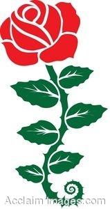 159x300 Clip Art Of A Rose Stencil