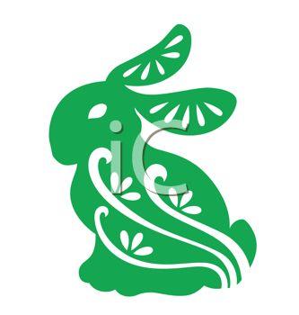 333x350 Easter Rabbit Stencil Design