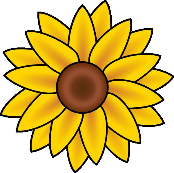 600x598 Free Printable Sunflower Stencils Sunflower Clip Art