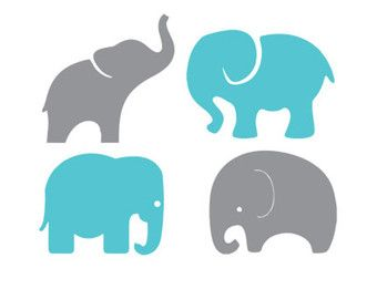340x270 Baby Elephant Silhouette Clipart