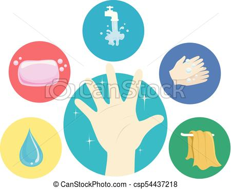 450x369 Hand Washing Steps Illustration. Illustration Of A Hand