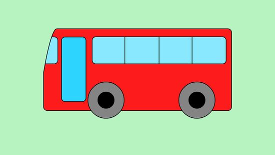 550x309 How To Draw A Bus 5 Steps (With Pictures)