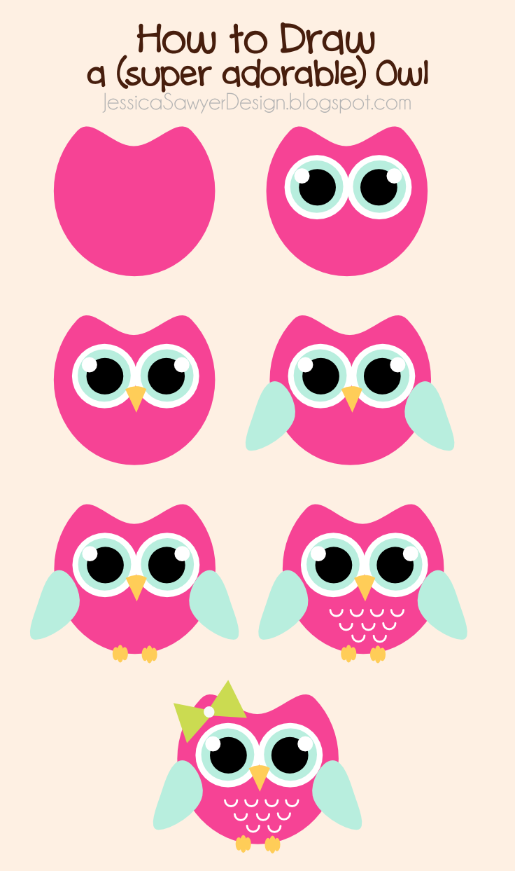 736x1243 Jessica Sawyer Design How To Draw An Owl + Free Owl Clipart