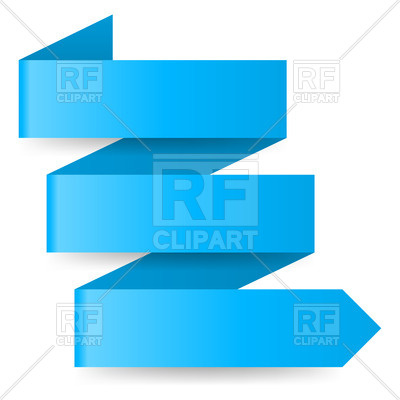 400x400 Three Step Blue Zigzag Paper Arrow Royalty Free Vector Clip Art