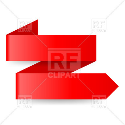400x400 Two Step Red Zigzag Paper Arrow On White Royalty Free Vector Clip