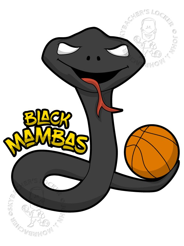600x800 Black Mamba Clipart Step By Step 3076857