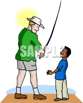 282x350 Boy Fishing With His Step Dad