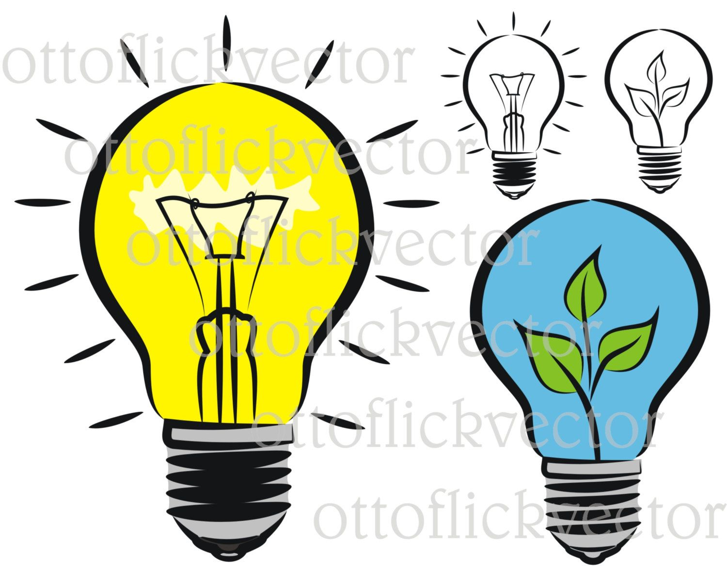 1500x1205 Light Bulb Idea Environmental Protection Vector Clipart Eps, Ai