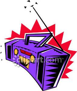 255x300 A Purple Stereo Or Boom Box