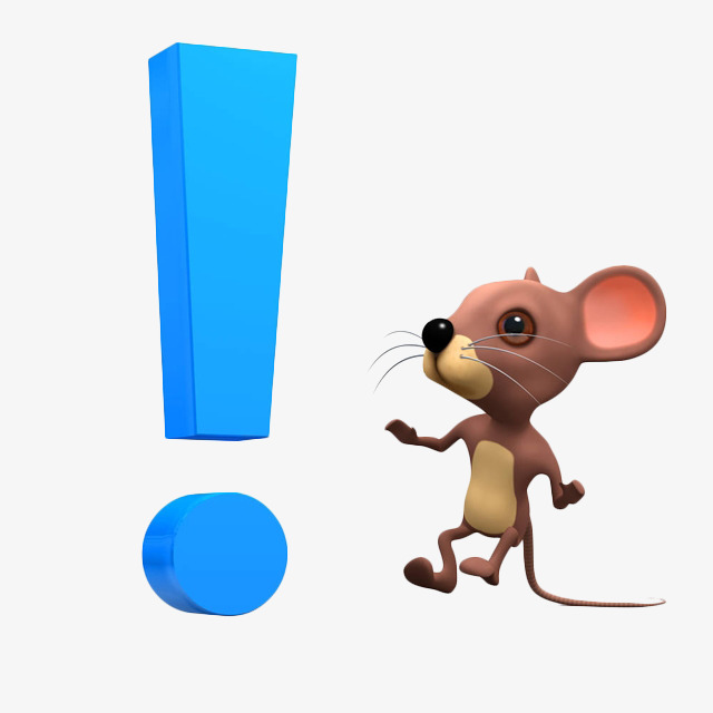 640x640 Stereo Cartoon Mouse And Blue., Cartoon, Exclamation Mark