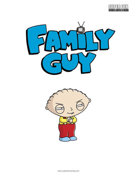 464x600 Family Guy Stewie Griffin Coloring Sheet