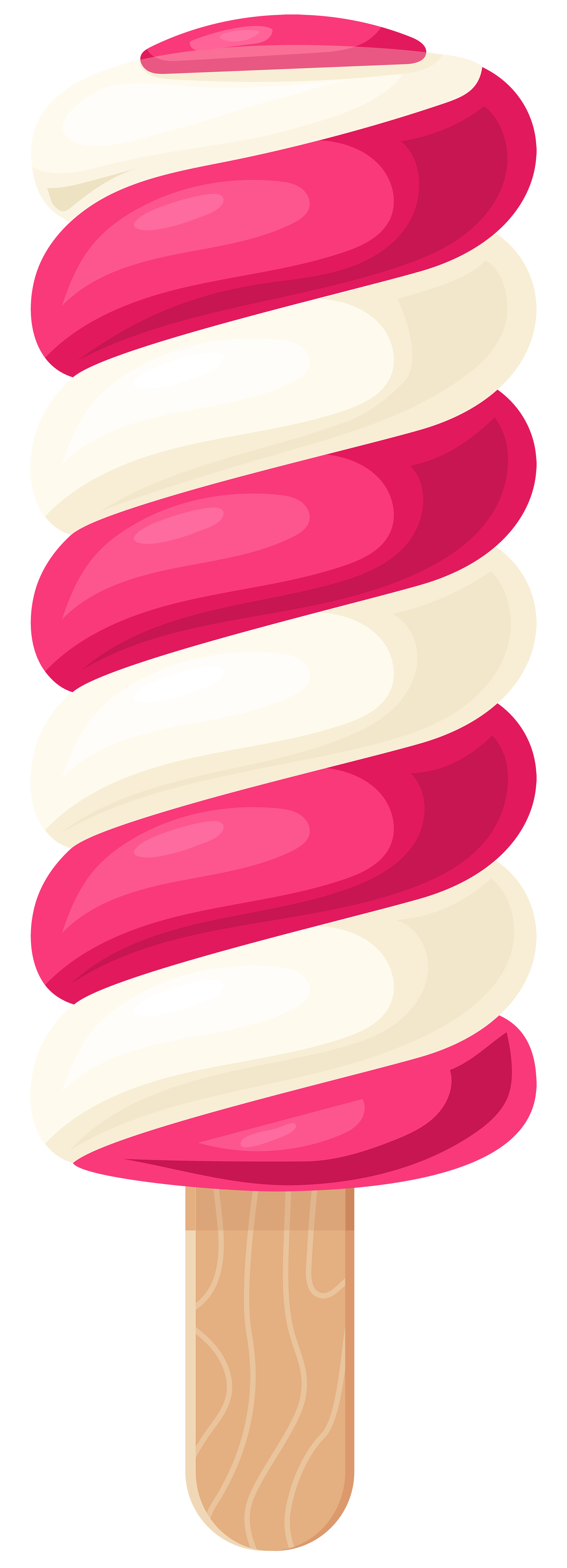 2170x6000 White Pink Ice Cream Stick Png Clip Art