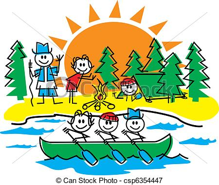 450x380 Family Camping Clipart Stick Figure Family Camping Image