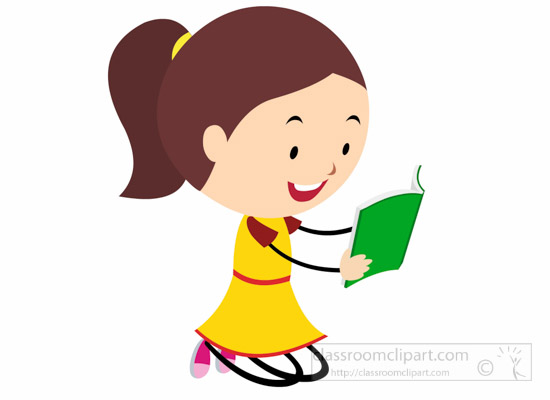 550x400 Reading Books Images Clip Art Cute Girl Stick Figure Reading Book