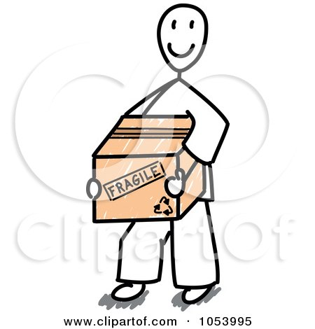 450x470 Royalty Free Vector Clip Art Illustration Of A Stick Man Carrying