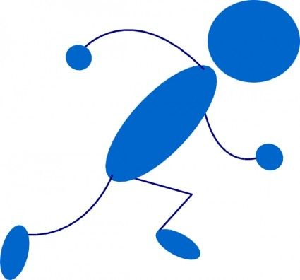 425x396 Running Blue Stick Man Clip Art Projects To Try