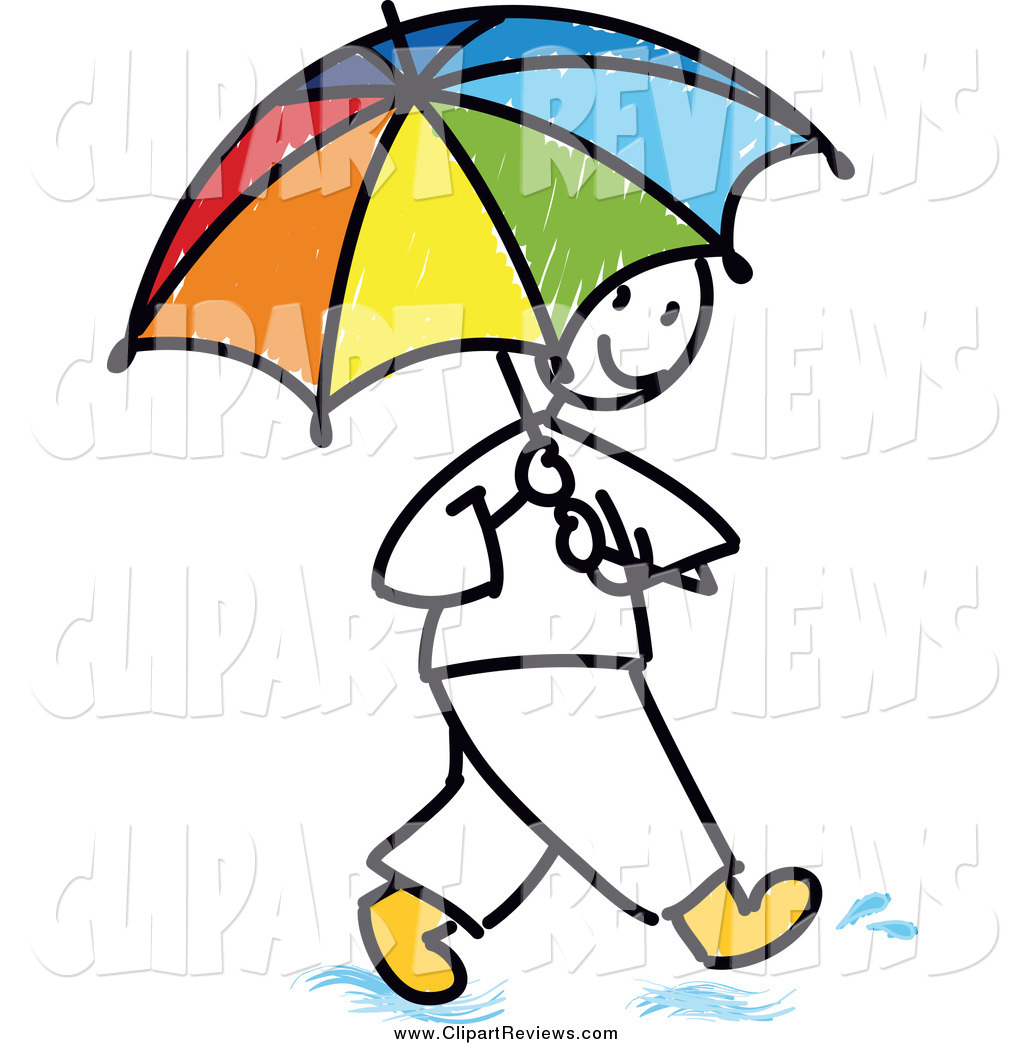 1024x1044 Clip Art Of A Stick Man Using A Colorful Umbrella By Frog974