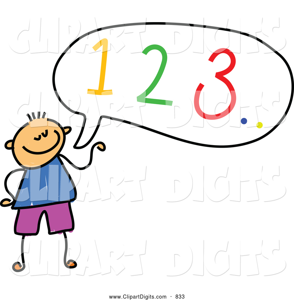 1024x1044 Vector Clip Art Of A Stick Figure Boy Counting Out Loud By Prawny