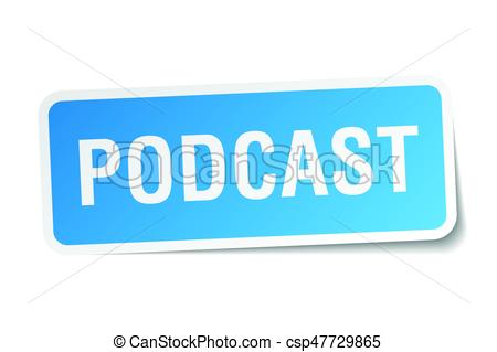 450x319 Podcast Square Sticker On White Clip Art Vector