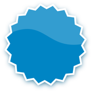 300x300 Blue Plain Sticker Clip Art
