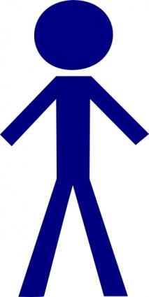 213x425 Man Standing Clip Art