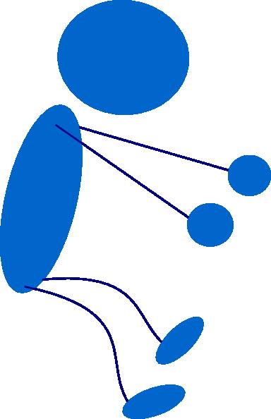 384x594 Sitting Blue Stick Man Clip Art Free Vector 4vector