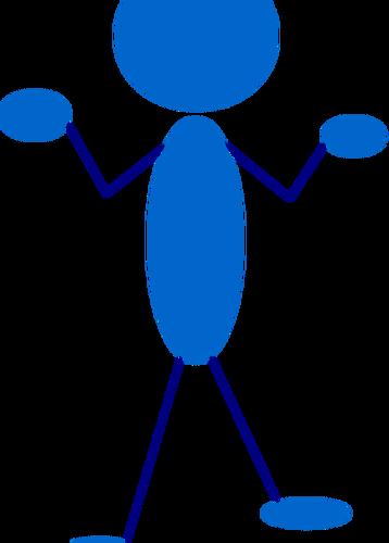 358x500 Vector Clip Art Of Blue Stick Man Questioning Public Domain Vectors