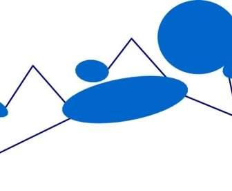 336x276 Waving Blue Stick Man Clip Art Vector Clip Art Free Vector Free