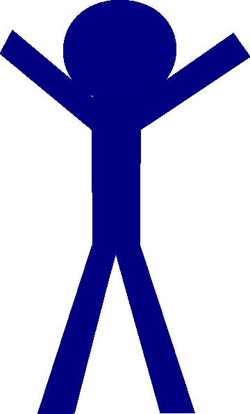 360x595 Blue Stick Man Clip Art