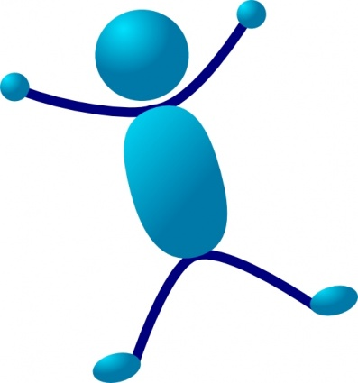 397x425 Free Download Of Stick Man Hurray Jumping Clip Art Vector Graphic