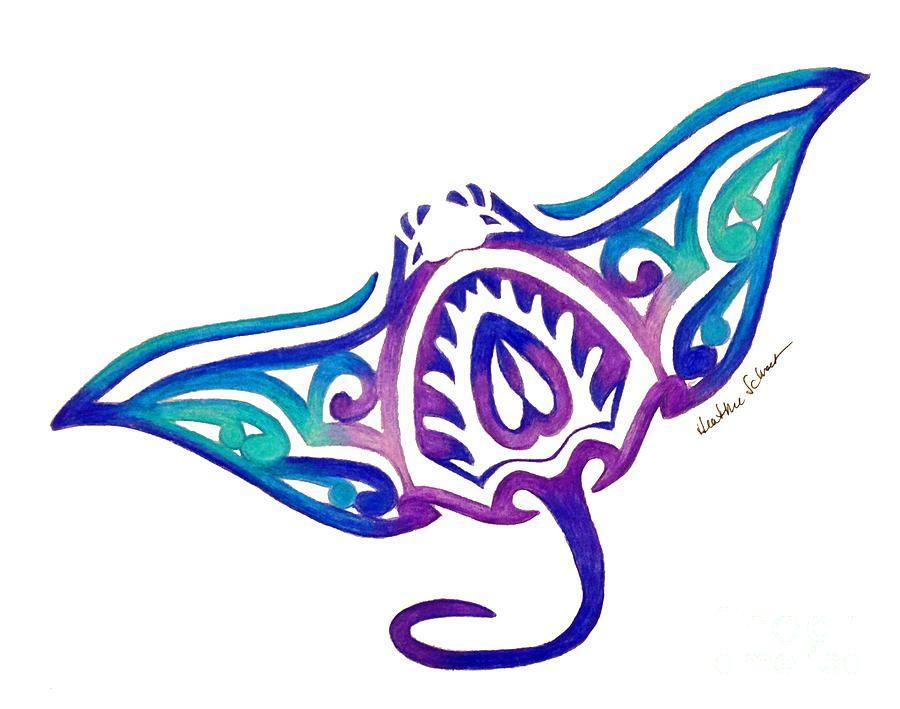 900x709 Tribal Stingray Tattoo