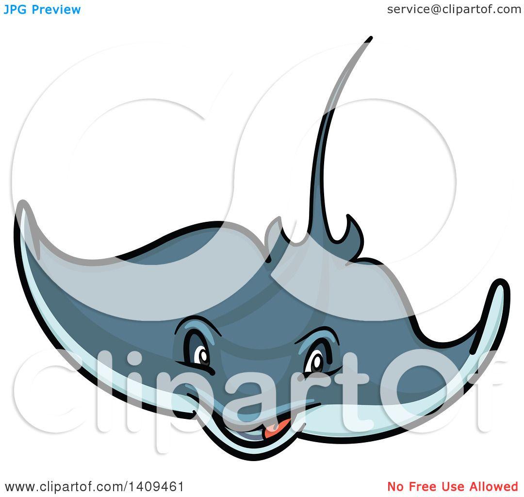 1080x1024 Clipart Of A Cartoon Happy Stingray